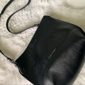Reversible black/grey Calvin Klein purse